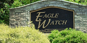 Eagle Watch is situated north of Atlanta among the foothills of the Blue Ridge Mountains. Part of the Towne Lake community, Eagle Watch is a country club community offering residents a variety of amenities from golf, swim, tennis and more. The golf course, designed by Arnold Palmer, provides an 18 hole par 72 course set amid the picturesque landscape. When not enjoying the neighborhood lifestyle of Eagle Watch, residents can enjoy the nearby restaurants along Towne Lake Parkway including Mellow Mushroom, Kani House, Corner Bistro, and Papa P's, as well as the many shopping plazas and recreation activities nearby. The Neighborhood Community Amenities Schools