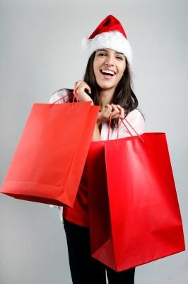 freedigitaphotos beautiful lady christmas shopping