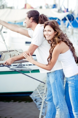"""""""Young Couple At Boat Harbour"""" by imagerymajestic"""