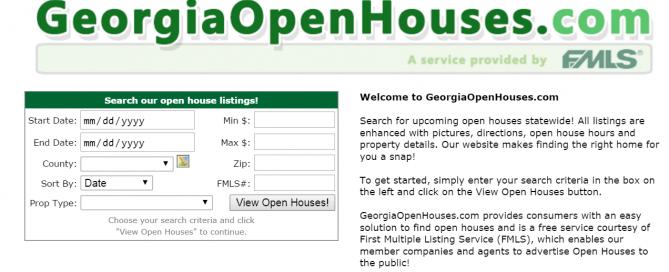 georgia open houses